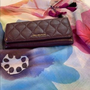 Vera Bradley Quilted Audrey leather wallet purple